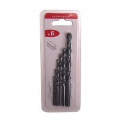 Lot de 6 forets métal, Diam.2-3-4-5-6-8 mm de marque Centrale Brico, référence: B6443800