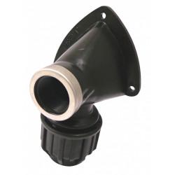 Raccord coudé applique compression plastique F 20 x 27, tube en polyéthylène de marque Centrale Brico, référence: B6450900