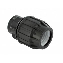 Raccord droit à compression plastique F 20 x 27 pour tube en polyéthylène de marque Centrale Brico, référence: B6451000
