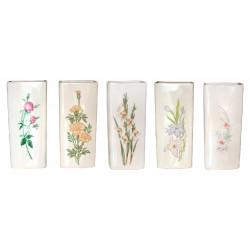 Saturateur plat céramique motif fleur, 310 ml de marque Centrale Brico, référence: B6451800