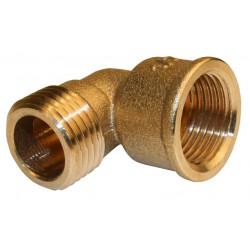 Raccord coudé laiton à visser laiton F 26 x 34 pour tube en cuivre de marque Centrale Brico, référence: B6455100