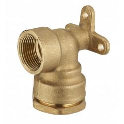 Coude applique F1/2 à compression laiton D.20 pour tube en polyéthylène de marque Centrale Brico, référence: B6458000