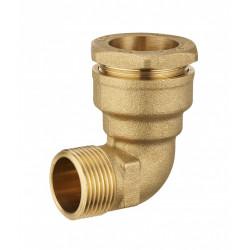 Coude M3/4 à compression laiton D.25 pour tube en polyéthylène de marque Centrale Brico, référence: B6458700