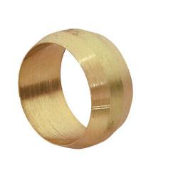Lot de 4 bagues de serrage biconique laiton D.12 pour tube en cuivre de marque Centrale Brico, référence: B6458800