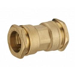 Manchon à compression laiton D.25 pour tube en polyéthylène de marque Centrale Brico, référence: B6459600