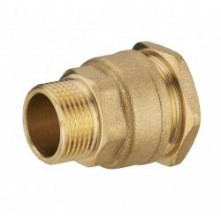 Raccord à compression laiton D.20 pour tube en polyéthylène de marque Centrale Brico, référence: B6465800