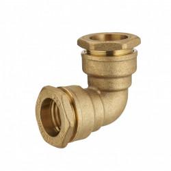 Raccord coude à compression laiton D.20 pour tube en polyéthylène de marque Centrale Brico, référence: B6468200