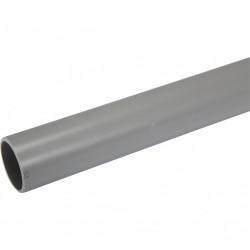 Tube d'évacuation PVC, Diam.50 mm, L.1 m de marque Centrale Brico, référence: B6480100