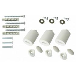 Barre porte-serviettes et fixations Bfixssblc blanc de marque Centrale Brico, référence: B6483200