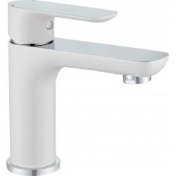 Mitigeur de lavabo blanc brillant, EDOUARD ROUSSEAU Milk de marque Centrale Brico, référence: B6497900