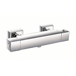 Mitigeur thermostatique douche chromé Encarré de marque Centrale Brico, référence: B6499100