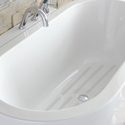 Pastilles antidérapantes blanc pour baignoire / douche, Grip de marque Centrale Brico, référence: B6499700