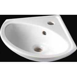 Lave-mains céramique angle blanc l.35 x P.35 cm, Sigma de marque Centrale Brico, référence: B6499800