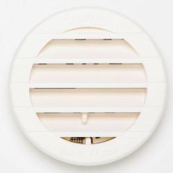 Grille d'aération abs naturel Diam.9.8 cm de marque Centrale Brico, référence: B6502800