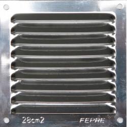 Grille d'aération acier inoxydable naturel, L.10 x l.10 cm de marque Centrale Brico, référence: B6505900