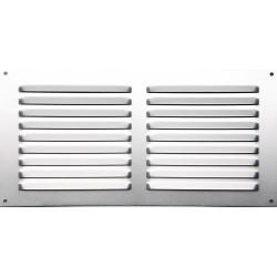 Grille d'aération aluminium anodisé, L.15 x l.30 cm de marque Centrale Brico, référence: B6506700