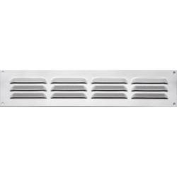 Grille d'aération aluminium anodisé, L.5 x l.24 cm de marque Centrale Brico, référence: B6507500