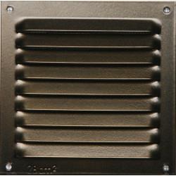 Grille d'aération aluminium laqué, L.10 x l.10 cm de marque Centrale Brico, référence: B6508100