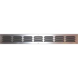 Grille d'aération aluminium mat à visser, L.5 x l.40 cm de marque Centrale Brico, référence: B6510700