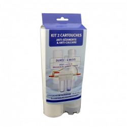 Lot de 2 cartouches pour station antitartre et antisédiment de marque Centrale Brico, référence: B6512100