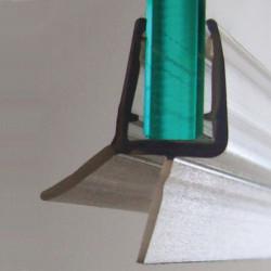 Joint d'étanchéité double lèvre H.2.5 cm translucide Joint de douche de marque Centrale Brico, référence: B6518200