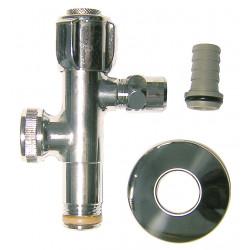 Robinet d'arrêt, mâle / mâle 12 x 17 mm 12 x 17 mm de marque Centrale Brico, référence: B6520000
