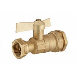 Vanne  à compression laiton D.25 pour tube en polyéthylène de marque Centrale Brico, référence: B6520200