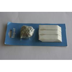 8 taquets d'assemblage blanc, L.3.5 x l.3 cm de marque Centrale Brico, référence: B6531700