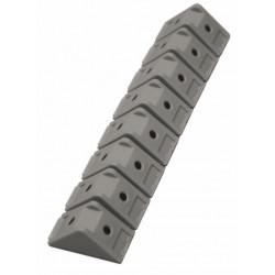 8 taquets d'assemblage gris aluminium, L.1.5 x l.3 cm de marque Centrale Brico, référence: B6531800