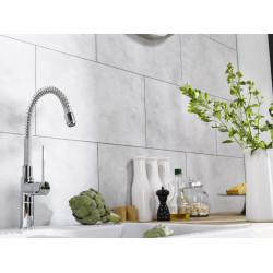 Dalle murale PVC blanc mat Dumawall+ DUMAPLAST L.65 x l.37,5 cm x Ep.5 mm de marque Centrale Brico, référence: B6536600
