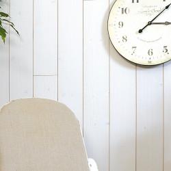 Lambris Epicéa épicéa blanc brossé PROTAC, L.205 x l.13.5 cm, Ep.12 mm de marque Centrale Brico, référence: B6536800