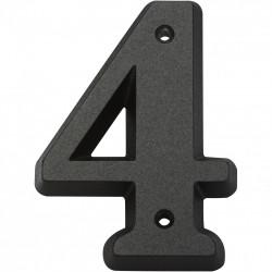 Chiffre 4 en zamak mat H.8 x l.4.5 cm de marque Centrale Brico, référence: B6541600