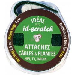 Bande auto-agrippante ID-SCRATCH L.2500 x l.10 mm de marque Centrale Brico, référence: B6546700