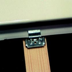 Lot de 250 clips + clous pour lambris pvc de marque Centrale Brico, référence: B6553300