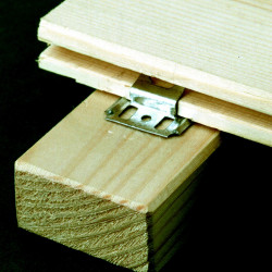 Lot de 250 clips et clous pour lambris bois l.2.3 cm x L.25 mm, Ep.0.3 cm de marque Centrale Brico, référence: B6553500