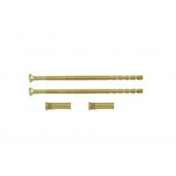 Lot de 2 vis et 2 douilles acier laitonné, L.9 x l.0.7 de marque Centrale Brico, référence: B6554800