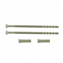 Lot de 2 vis et 2 douilles acier nickelé, L.9 x l.0.7 de marque Centrale Brico, référence: B6554900
