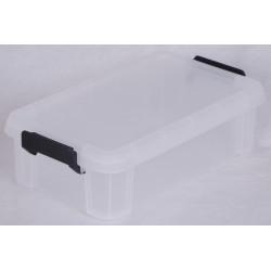 boîte IRIS plastique transparent l.21.4 x P.36.5 x H.10.5 cm cm de marque Centrale Brico, référence: B6555200