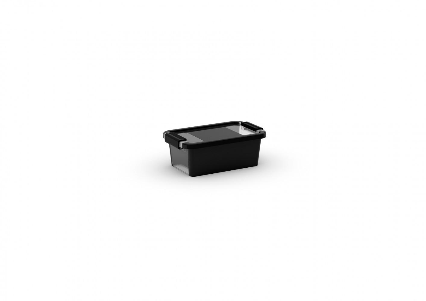 boîte KIS plastique noir l.16 x P.26.5 x H.10 cm cm