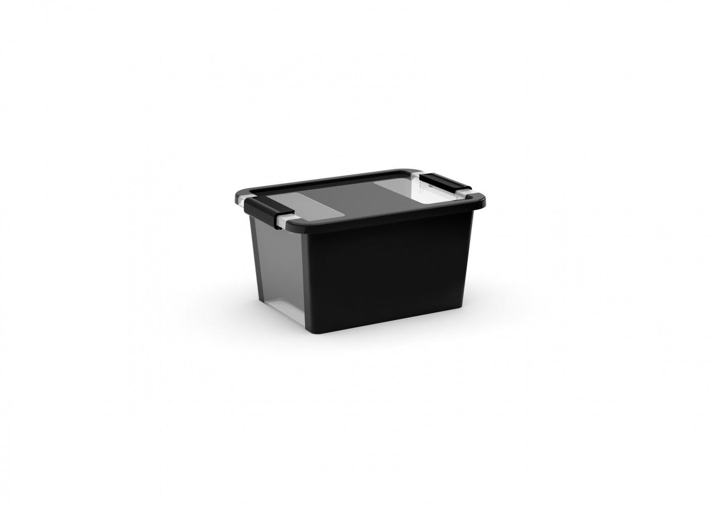 boîte KIS plastique noir l.36.5 x P.25.8 x H.19 cm cm