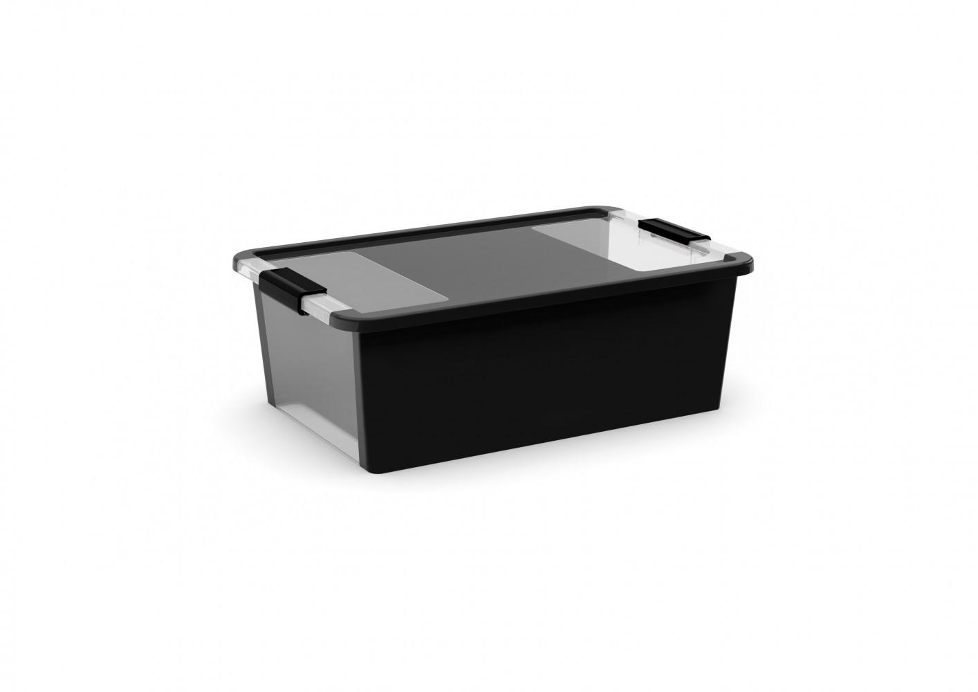 boîte KIS plastique noir l.55 x P.35 x H.19 cm cm