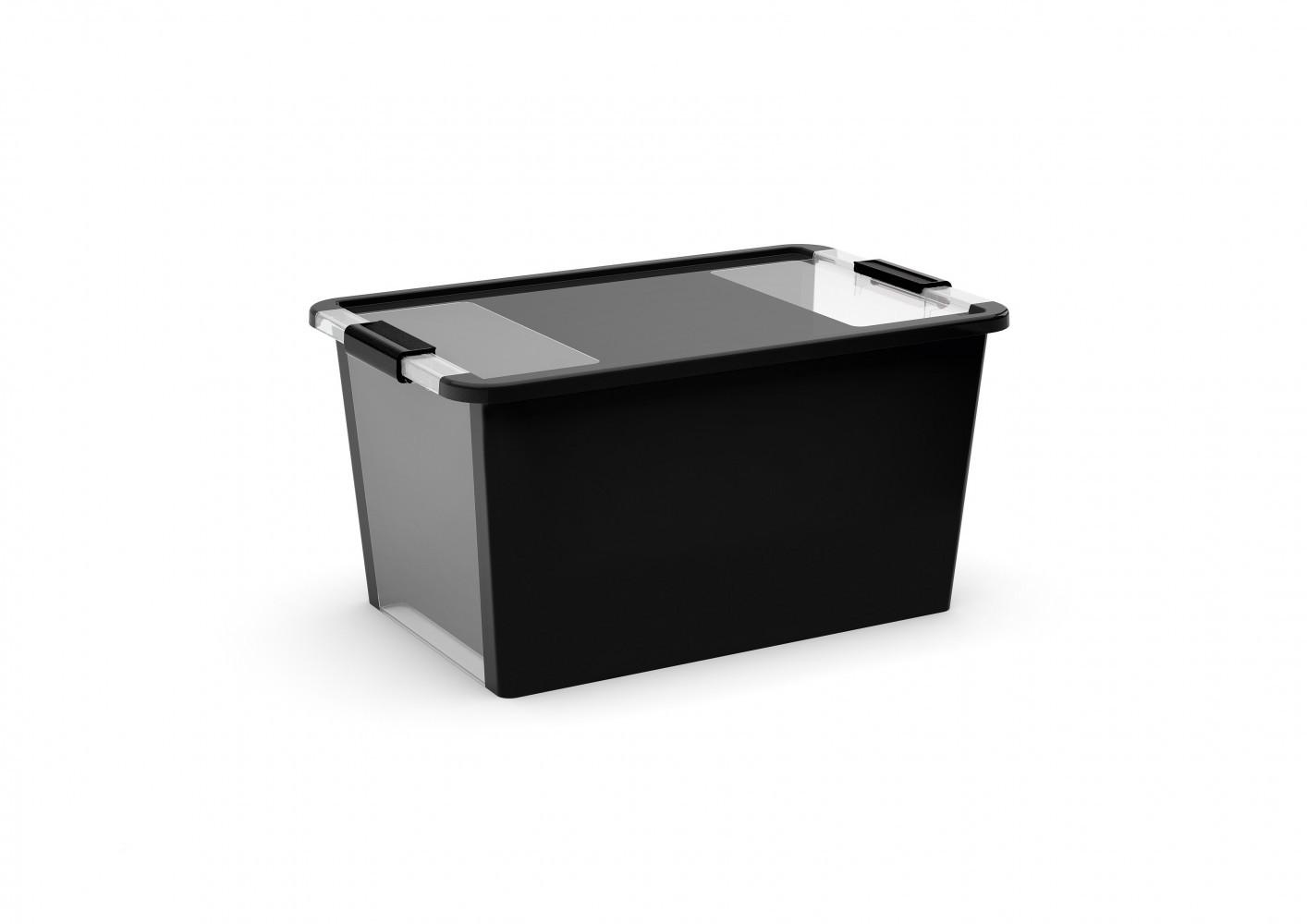 boîte KIS plastique noir l.55 x P.35 x H.28 cm cm