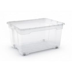 boîte KIS plastique transparent l.77.5 x P.58 x H.43.5 cm cm de marque Centrale Brico, référence: B6556100