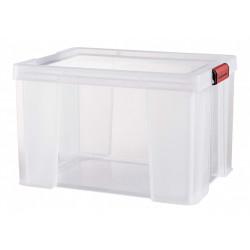 boîte plastique transparent l.39 x P.50 x H.32.5 cm cm de marque Centrale Brico, référence: B6556200