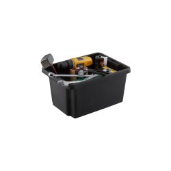 1 boîte non polypropylène noir, 16 l de marque Centrale Brico, référence: B6556900