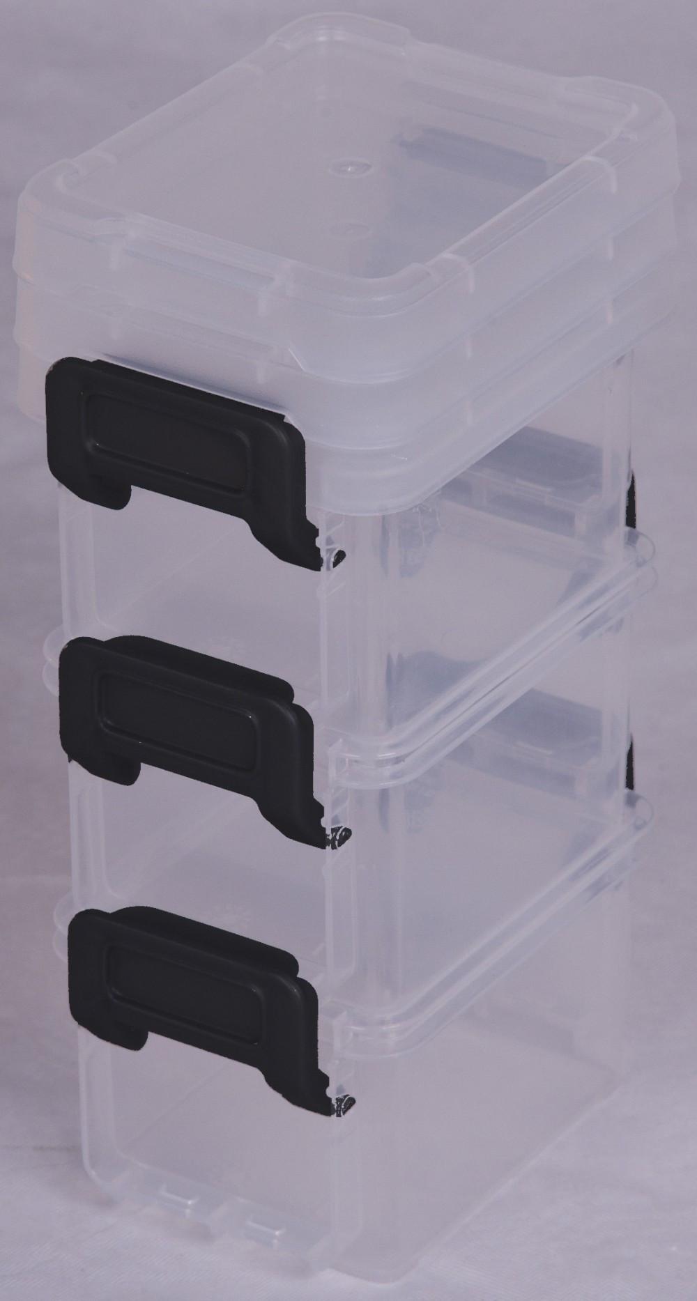 lot de 3 boites IRIS plastique transparent l.6.5 x P.9 x H.5.5 cm cm