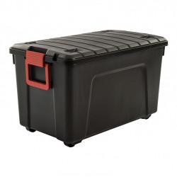 malle IRIS plastique bordeaux l.44.5 x P.75 x H.44.5 cm, 110 l de marque Centrale Brico, référence: B6557800
