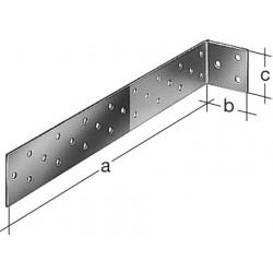 Equerre à béton Galvanisé GAH ALBERTS, 285x40x40 mm de marque Centrale Brico, référence: B6558200