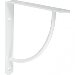 Equerre Bi bop acier epoxy blanc, H.18 x P.18 cm de marque Centrale Brico, référence: B6558500