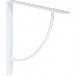 Equerre Bi bop acier epoxy blanc, H.23 x P.23 cm de marque Centrale Brico, référence: B6558600